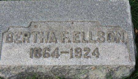 ELLSON, BERTHA F. - Gallia County, Ohio | BERTHA F. ELLSON - Ohio Gravestone Photos