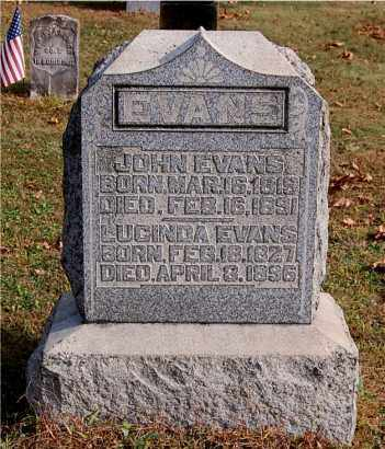EVANS, LUCINDA - Gallia County, Ohio | LUCINDA EVANS - Ohio Gravestone Photos