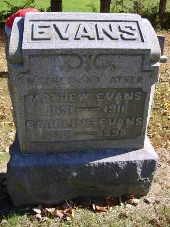EVANS, CAROLINE - Gallia County, Ohio | CAROLINE EVANS - Ohio Gravestone Photos