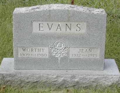 EVANS, WORTHY - Gallia County, Ohio | WORTHY EVANS - Ohio Gravestone Photos