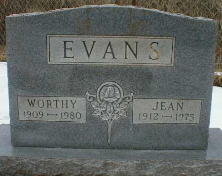 EVANS, WORTHY - Gallia County, Ohio   WORTHY EVANS - Ohio Gravestone Photos