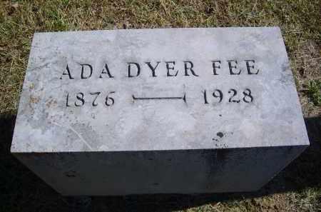 FEE, ADA - Gallia County, Ohio   ADA FEE - Ohio Gravestone Photos
