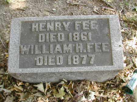 FEE, HENRY - Gallia County, Ohio | HENRY FEE - Ohio Gravestone Photos