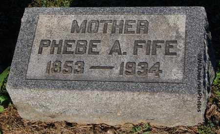 RALPH FIFE, PHEBE A - Gallia County, Ohio   PHEBE A RALPH FIFE - Ohio Gravestone Photos