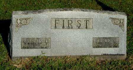 FIRST, CURTIS C - Gallia County, Ohio | CURTIS C FIRST - Ohio Gravestone Photos