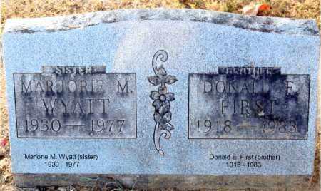 FIRST WYATT, MARJORIE M. - Gallia County, Ohio | MARJORIE M. FIRST WYATT - Ohio Gravestone Photos