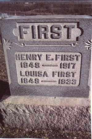 FIRST, LOUISA - Gallia County, Ohio | LOUISA FIRST - Ohio Gravestone Photos