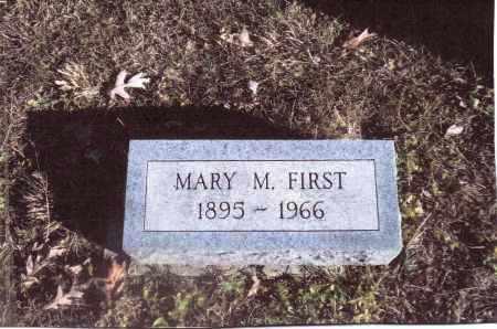 FIRST, MARY M. - Gallia County, Ohio   MARY M. FIRST - Ohio Gravestone Photos