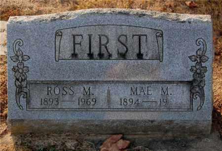 FIRST, ROSS M. - Gallia County, Ohio | ROSS M. FIRST - Ohio Gravestone Photos