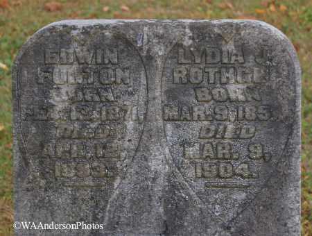 FULTON, LYDIA J (CLOSE-UP) - Gallia County, Ohio | LYDIA J (CLOSE-UP) FULTON - Ohio Gravestone Photos