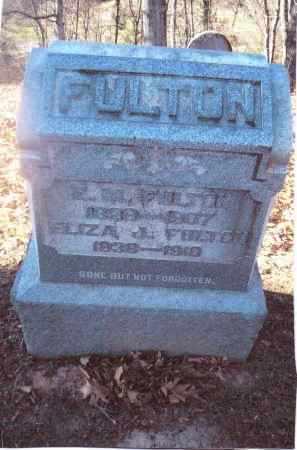 FULTON, ELIZA J. - Gallia County, Ohio   ELIZA J. FULTON - Ohio Gravestone Photos