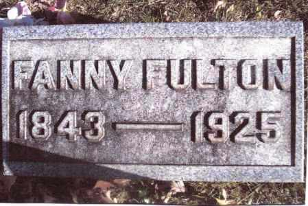 FULTON, FANNY - Gallia County, Ohio | FANNY FULTON - Ohio Gravestone Photos