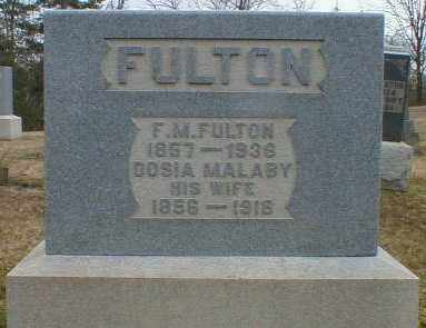 FULTON, FRANCIS - Gallia County, Ohio | FRANCIS FULTON - Ohio Gravestone Photos