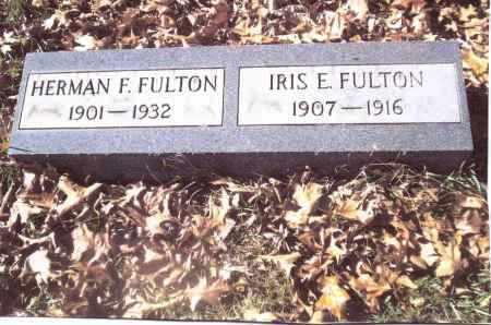 FULTON, HERMAN F. - Gallia County, Ohio | HERMAN F. FULTON - Ohio Gravestone Photos