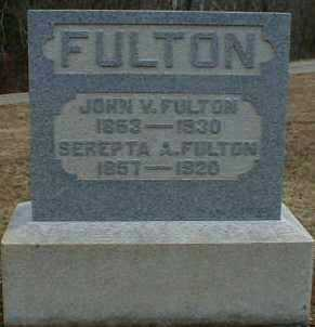 FULTON, SEREPTA - Gallia County, Ohio | SEREPTA FULTON - Ohio Gravestone Photos