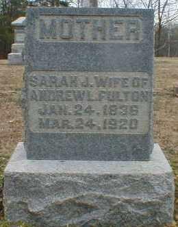 FULTON, SARAH - Gallia County, Ohio | SARAH FULTON - Ohio Gravestone Photos