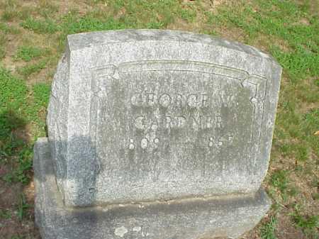GARDNER, GEORGE W - Gallia County, Ohio   GEORGE W GARDNER - Ohio Gravestone Photos