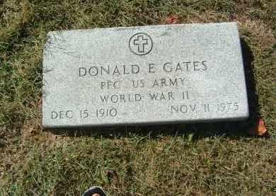 GATES, DONALD E - Gallia County, Ohio | DONALD E GATES - Ohio Gravestone Photos