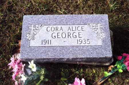 GEORGE, CORA ALICE - Gallia County, Ohio | CORA ALICE GEORGE - Ohio Gravestone Photos