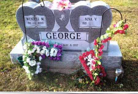 ROTHGEB GEORGE, NINA V. - Gallia County, Ohio | NINA V. ROTHGEB GEORGE - Ohio Gravestone Photos
