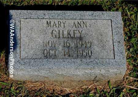 GILKEY, MARY ANN - Gallia County, Ohio   MARY ANN GILKEY - Ohio Gravestone Photos