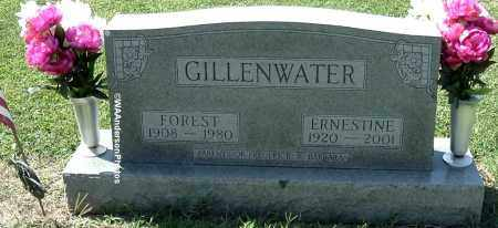 GILLENWATER, FOREST - Gallia County, Ohio   FOREST GILLENWATER - Ohio Gravestone Photos