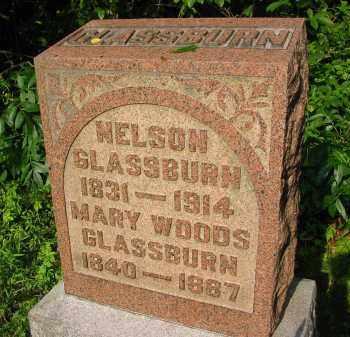 WOODS GLASSBURN, MARY - Gallia County, Ohio | MARY WOODS GLASSBURN - Ohio Gravestone Photos