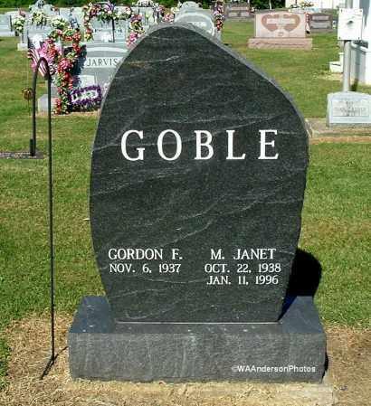 GOBLE, GORDON F - Gallia County, Ohio | GORDON F GOBLE - Ohio Gravestone Photos