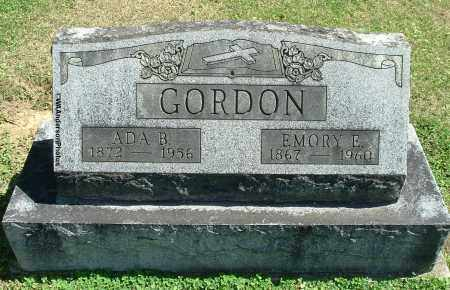 GORDON, EMORY E - Gallia County, Ohio | EMORY E GORDON - Ohio Gravestone Photos