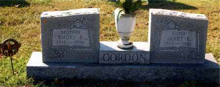 GORDON, JANET E. - Gallia County, Ohio | JANET E. GORDON - Ohio Gravestone Photos