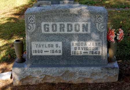 DAVIDSON GORDON, RHODA JANE - Gallia County, Ohio | RHODA JANE DAVIDSON GORDON - Ohio Gravestone Photos