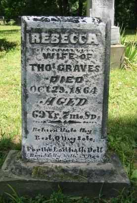 GRAVES, REBECCA - Gallia County, Ohio   REBECCA GRAVES - Ohio Gravestone Photos