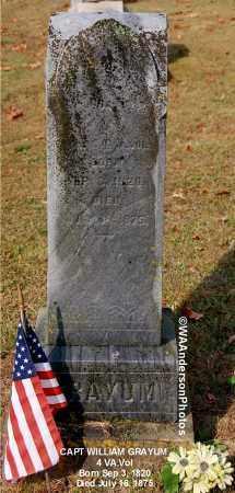 GRAYUM, WILLIAM (CAPT) - Gallia County, Ohio   WILLIAM (CAPT) GRAYUM - Ohio Gravestone Photos