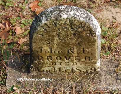 GROVER, INFANT SON - Gallia County, Ohio | INFANT SON GROVER - Ohio Gravestone Photos
