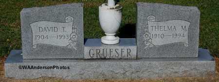 GRUESER, DAVID T - Gallia County, Ohio   DAVID T GRUESER - Ohio Gravestone Photos