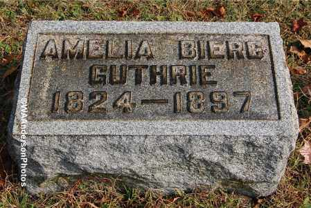 GUTHRIE, AMELIA - Gallia County, Ohio | AMELIA GUTHRIE - Ohio Gravestone Photos