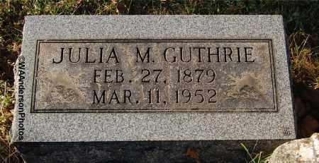 GUTHRIE, JULIA M - Gallia County, Ohio   JULIA M GUTHRIE - Ohio Gravestone Photos