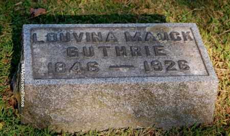 MAUCK GUTHRIE, LOUVINA - Gallia County, Ohio | LOUVINA MAUCK GUTHRIE - Ohio Gravestone Photos