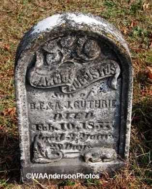 GUTHRIE, MARCUS AUGUSTUS - Gallia County, Ohio | MARCUS AUGUSTUS GUTHRIE - Ohio Gravestone Photos
