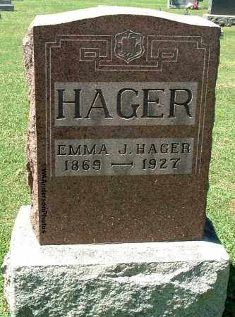 HAGER, EMMA JANE - Gallia County, Ohio | EMMA JANE HAGER - Ohio Gravestone Photos