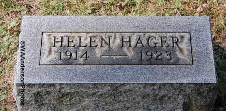 HAGER, HELEN IRENE - Gallia County, Ohio   HELEN IRENE HAGER - Ohio Gravestone Photos