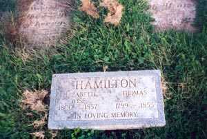 WISE HAMILTON, ELIZABETH - Gallia County, Ohio | ELIZABETH WISE HAMILTON - Ohio Gravestone Photos