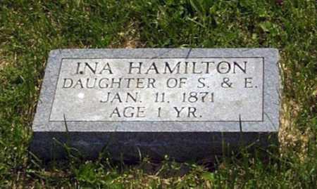 HAMILTON, INA - Gallia County, Ohio | INA HAMILTON - Ohio Gravestone Photos