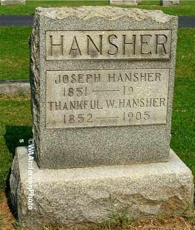 HANSHER, JOSEPH - Gallia County, Ohio | JOSEPH HANSHER - Ohio Gravestone Photos
