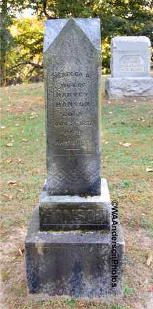 HANSON, REBECCA A - Gallia County, Ohio   REBECCA A HANSON - Ohio Gravestone Photos