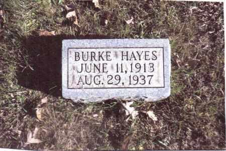 HAYES, BURKE - Gallia County, Ohio | BURKE HAYES - Ohio Gravestone Photos