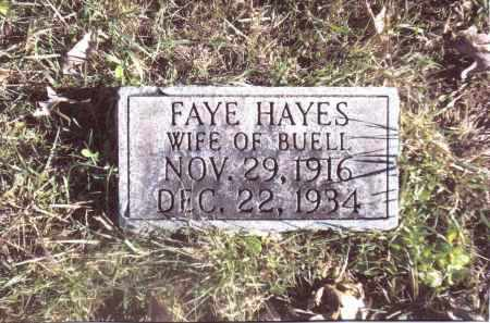 HAYES, FAYE - Gallia County, Ohio | FAYE HAYES - Ohio Gravestone Photos
