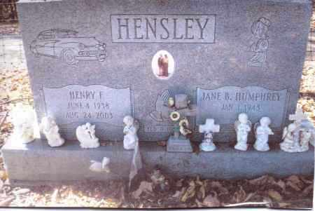 HUMPHREY HENSLEY, JANE B. - Gallia County, Ohio | JANE B. HUMPHREY HENSLEY - Ohio Gravestone Photos