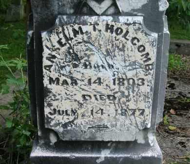 HOLCOMB, ANSELM T. - Gallia County, Ohio   ANSELM T. HOLCOMB - Ohio Gravestone Photos