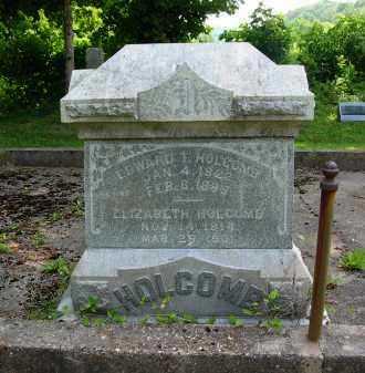 HOLCOMB, ELIZABETH - Gallia County, Ohio | ELIZABETH HOLCOMB - Ohio Gravestone Photos